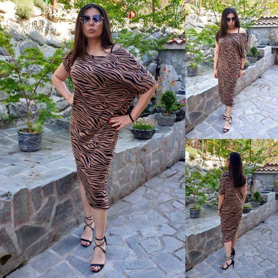 рокля с тигров десен