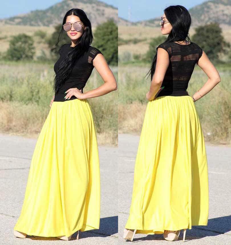 Модел 251 - Дамски комплект пола и блуза