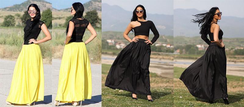 Как да носим дълга пола